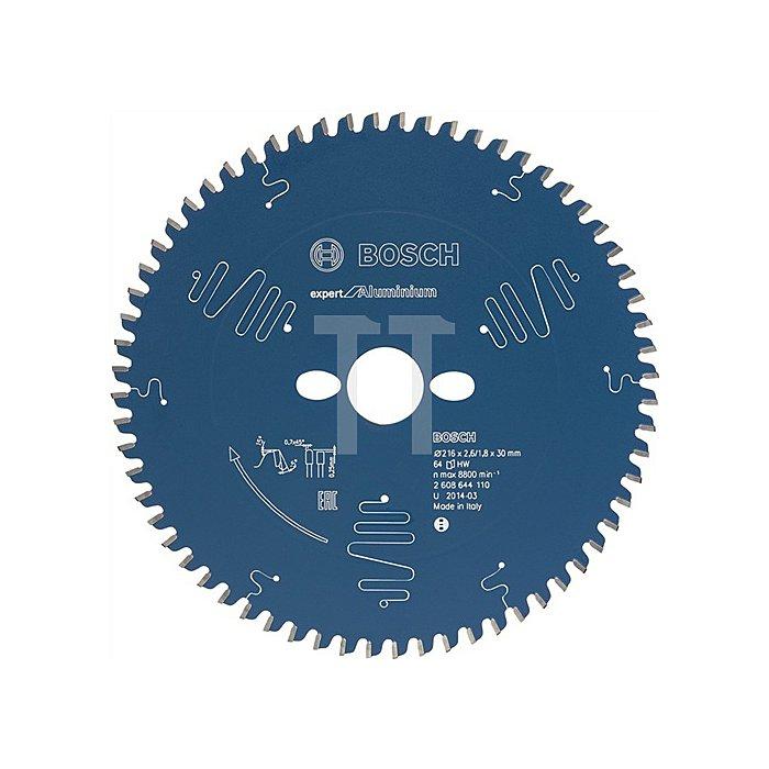 Kreissägeblatt A-D.216mm Bohr. 30mm 64Zähne Schnitt-B.2,6mm Expert für Alumimium