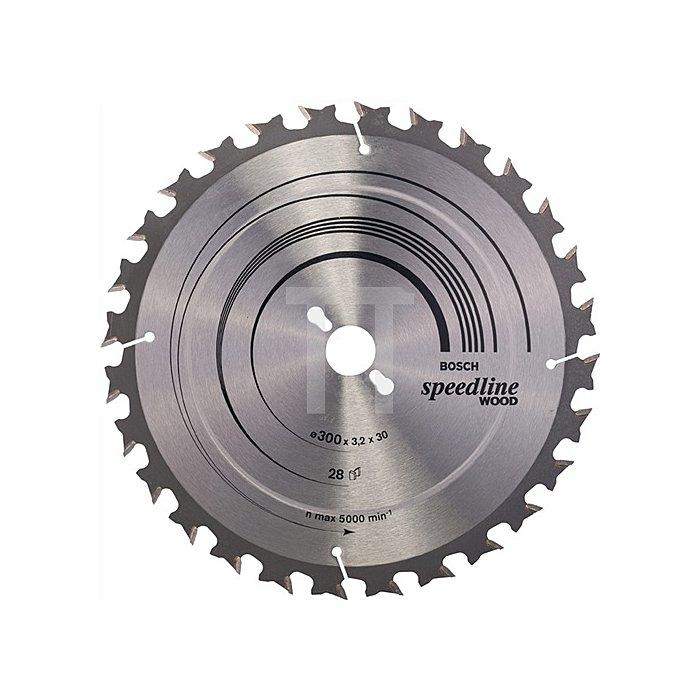 Kreissägeblatt A.-D.300mm Bohr. 30mm 28Zähne Schnitt-B.3,2mm Speedline Wood WZ