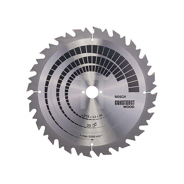 Kreissägeblatt A.-D.315mm Bohr. 30mm 20Zähne Schnitt-B.3,2mm Construct Wood FWF