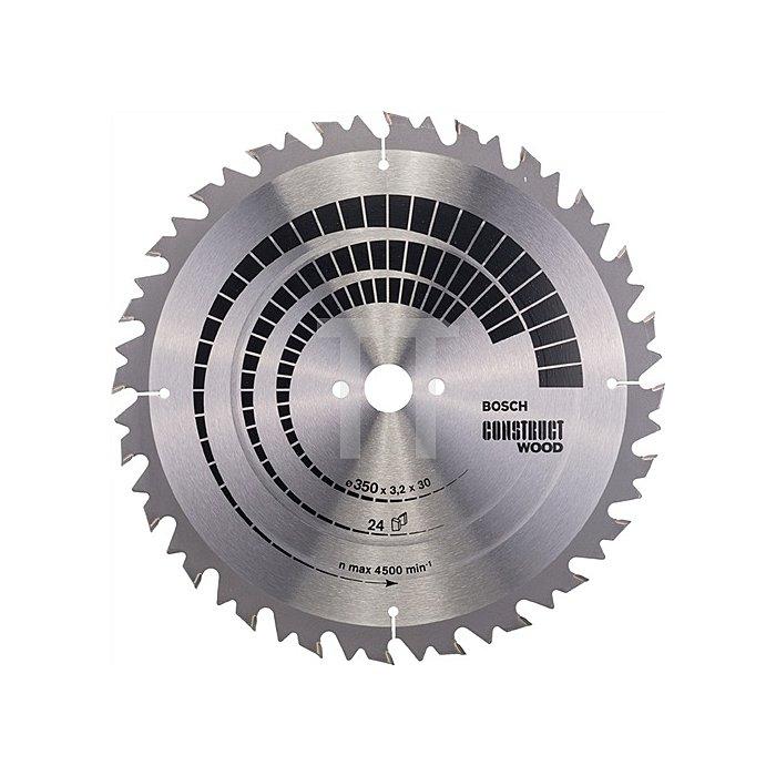 Kreissägeblatt A.-D.350mm Bohr. 30mm 24Zähne Schnitt-B.3,2mm Construct Wood WZ