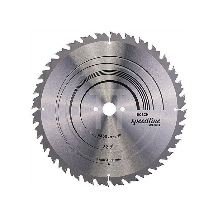 Kreissägeblatt A.-D.350mm Bohr. 30mm 32Zähne Schnitt-B.3,5mm Speedline Wood WZ