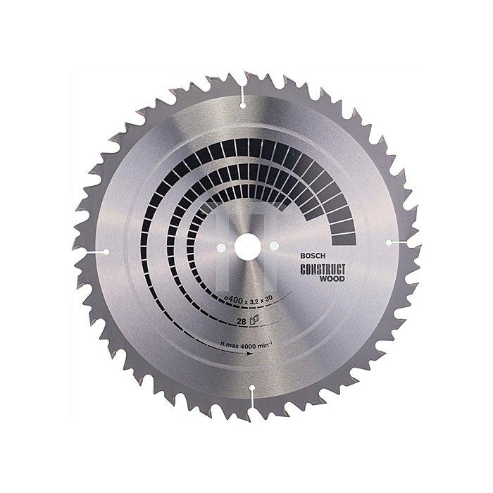 Kreissägeblatt A.-D.400mm Bohr. 30mm 28Zähne Schnitt-B.3,2mm Construct Wood WZ