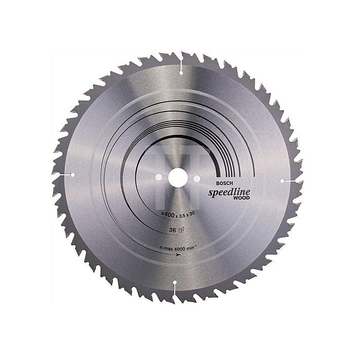 Kreissägeblatt A.-D.400mm Bohr. 30mm 36Zähne Schnitt-B.3,5mm Speedline Wood WZ