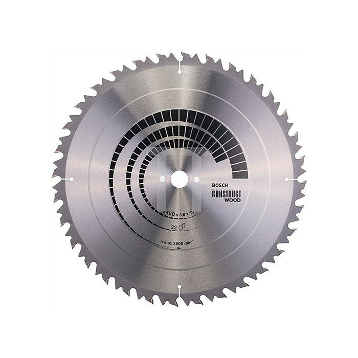 Kreissägeblatt A.-D.450mm Bohr. 30mm 32Zähne Schnitt-B.3,8mm Construct Wood WZ