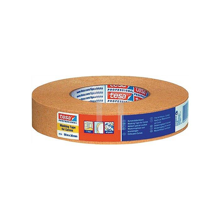 Kreppband 4319 Länge 50m Breite 30mm chamois stark gekreppt tesa