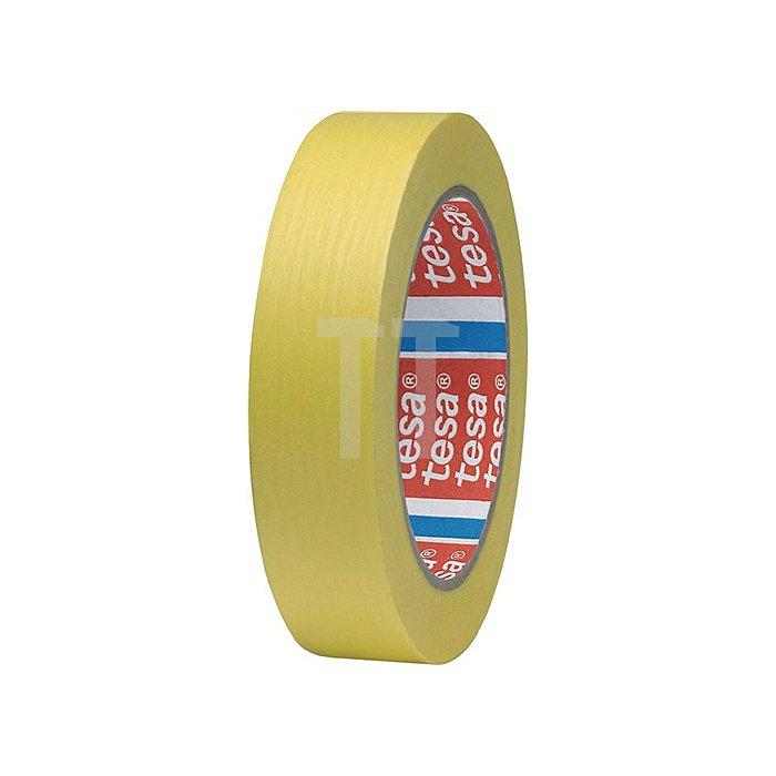 Kreppband 4334 Länge 50m Breite 25mm gelb tesa