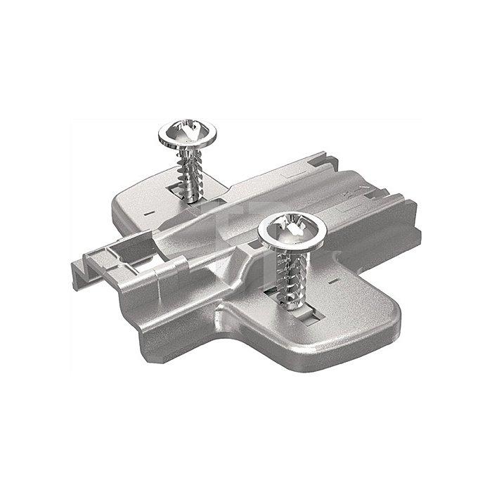 Kreuzmontageplatte D. 3mm für Eck- und Mittelwandanschläge 9071587