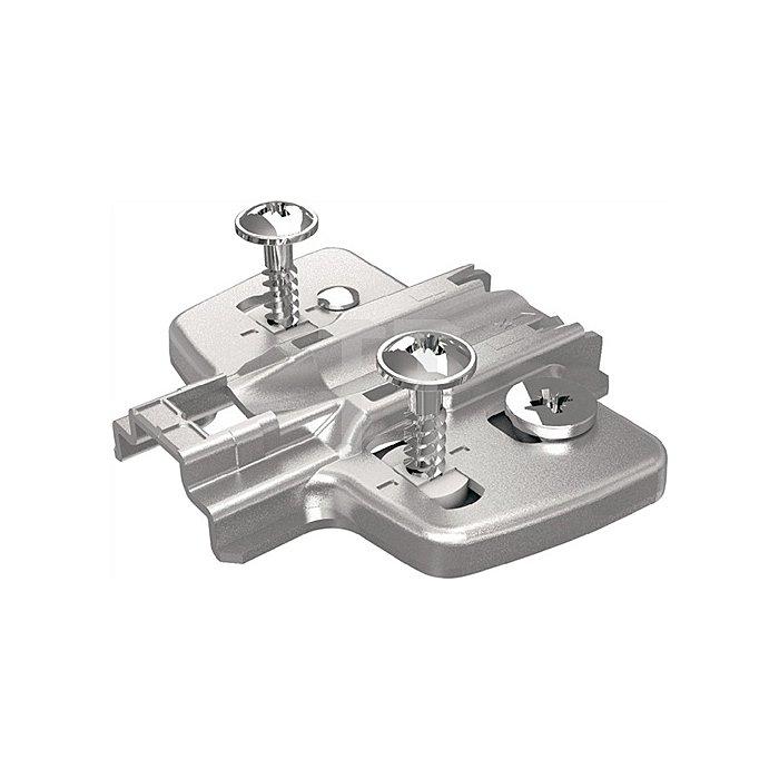 Kreuzmontageplatte D. 3mm für Eck- und Mittelwandanschläge 9071652