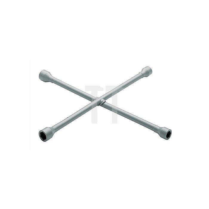 Kreuzschlüssel SW 17x19x21x11/16Zoll 420x420mm GEDORIT silber pulverbesch. CV.
