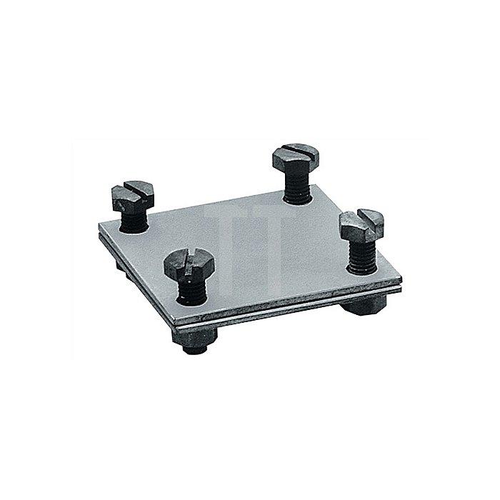 Kreuzverbinder zweifach Abmessung 60x60mm verzinkt