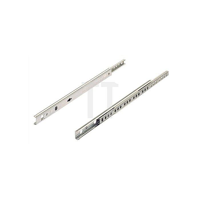 Kugelauszug für 17mm Nut 030767 Schubkastenlänge 450mm Stahl verzinkt