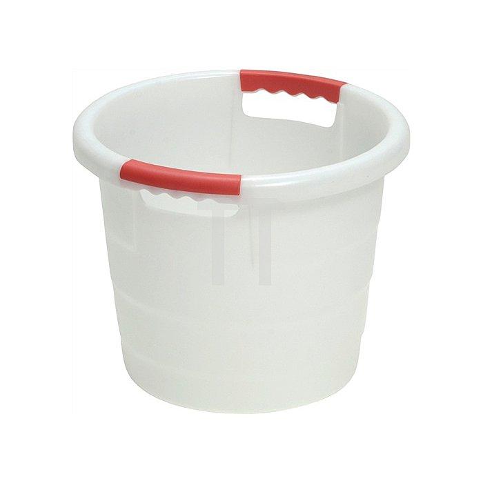 Kunststoffbehälter 30l rund D.420xH350mm natur lebensmittelecht