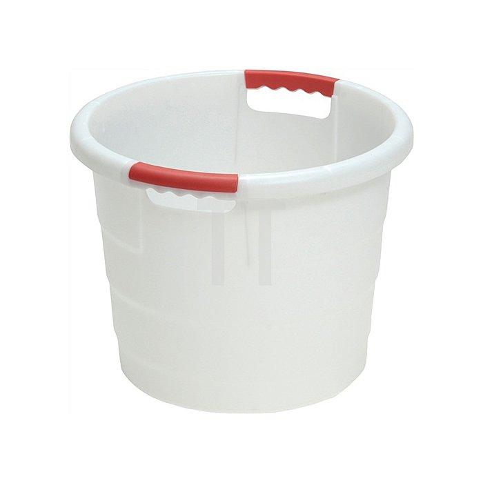 Kunststoffbehälter 45l rund D.490xH380mm natur lebensmittelecht