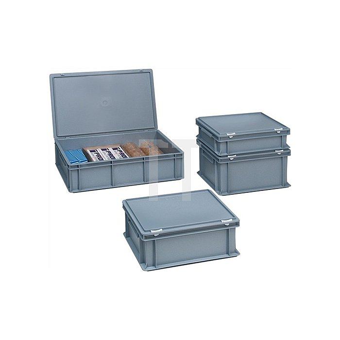 Kunststoffbehälter PP 24l m.Deckel L600xB400xH133mm grau
