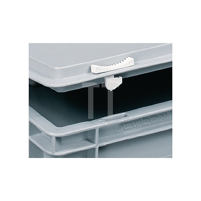 Kunststoffkoffer 14l PP m.1Griff L400xB300xH183mm grau stapelbar