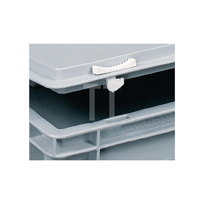 Kunststoffkoffer 24l PP m.1Griff L600xB400xH133mm grau stapelbar