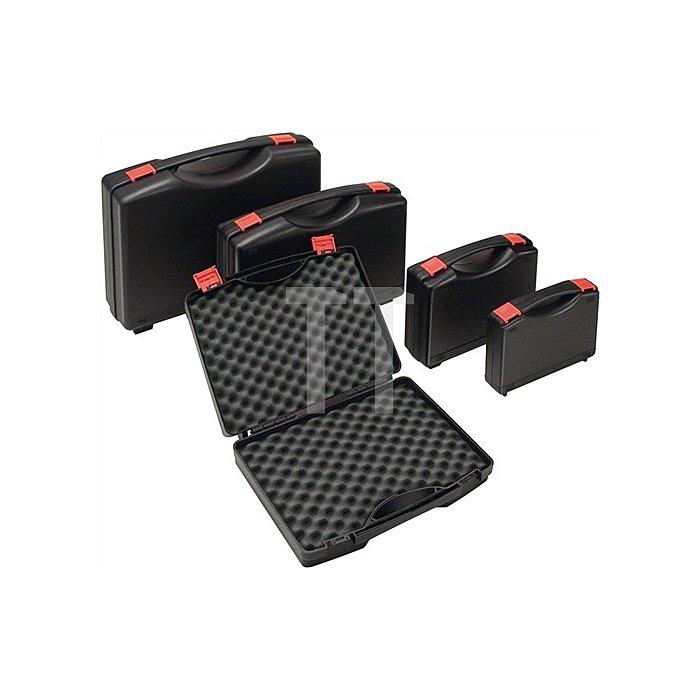 Kunststoffkoffer PP schwarz m.Schaumstoffeinlage B450xT360xH140mm