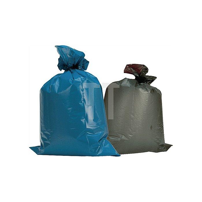 Kunststoffsack 120l 100µm grau 700x1100mm flachl. 150St./VE