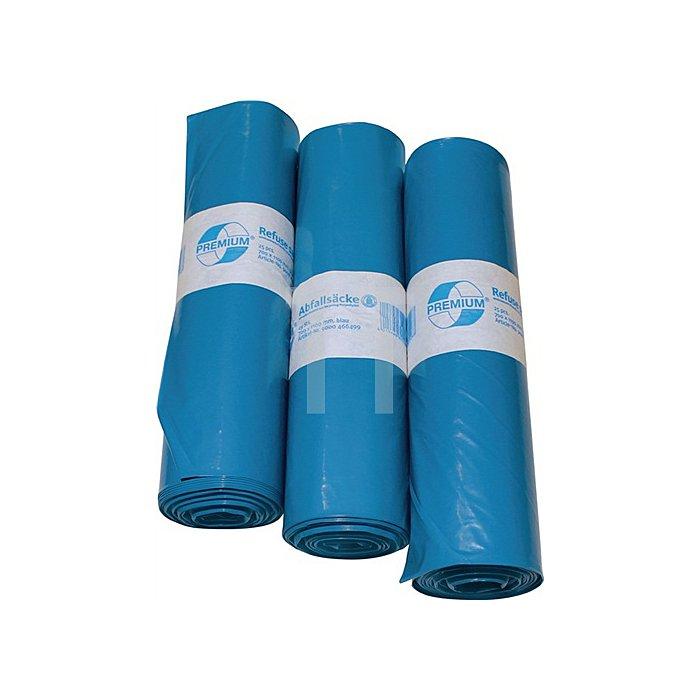 Kunststoffsack 120l Typ 60 hellblau 700x1100mm gerollt 250St./VE