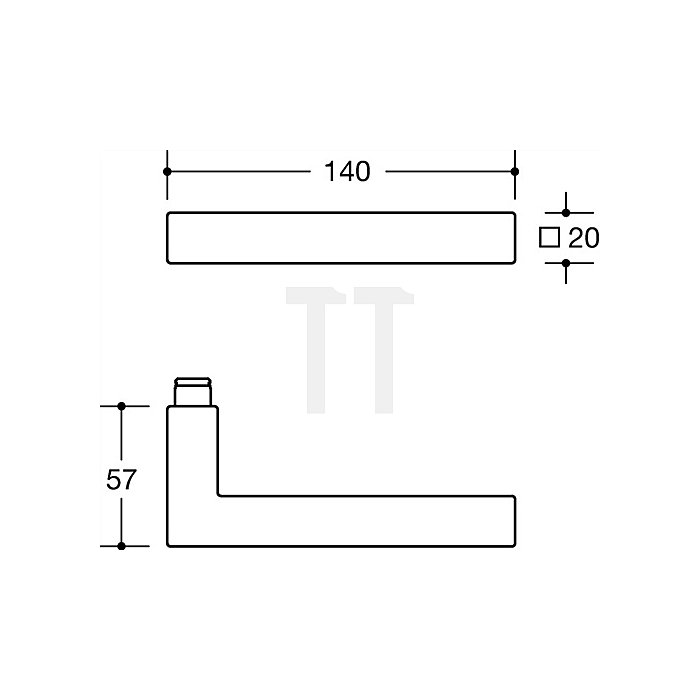 Kurzschild-Drückergrt.101XAH/105XA/220.20SXAH E72 BB VK8mm TS38,1-48 VA matt WE