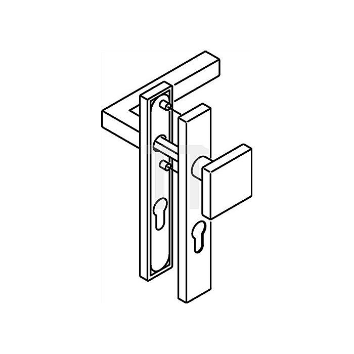 Kurzschild-Drückergrt.101XAH/105XA/220.20SXAH E92 PZ VK8mm TS38,1-48 VA matt WE