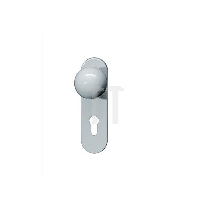 Kurzschild-Drückergrt.111.23R/123.23R/230.23R E72 PZ TS38,1-48 felsgrau Wechselg