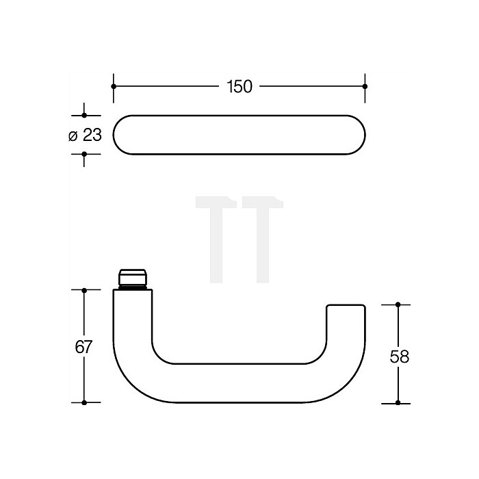 Kurzschild-Drückergrt.111.23R/230.23R E72 BB VK8mm TS38,1-48mm lichtgrau