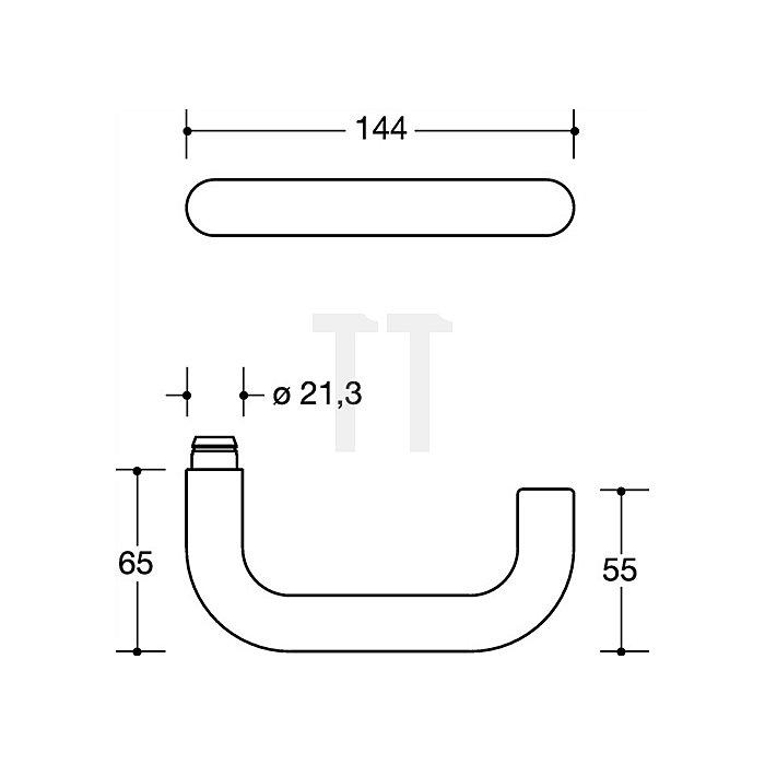 Kurzschild-Drückergrt.111XAH/230.21XAHNR E78 FBM Riegel-VK8mm TS38,1-43 VA matt