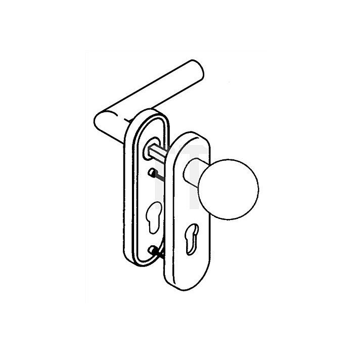 Kurzschild-Drückergrt.162.21PCB/123/230.21PCB E72 BB li.TS38,1-48 weiss Wechsel.