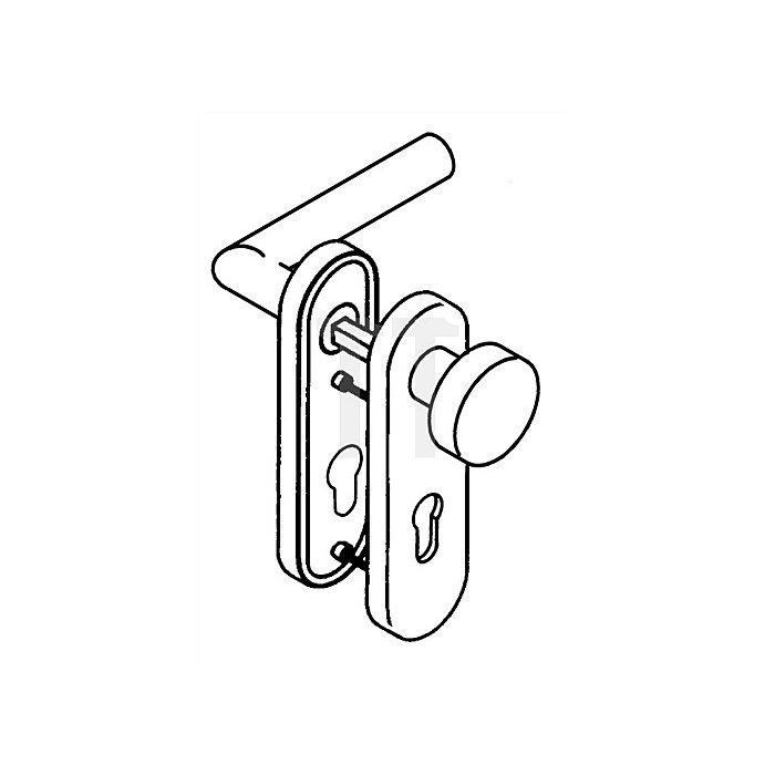 Kurzschild-Drückergrt.162.21XAB/107XA/230.21XAB BB TS38,1-48 VA matt Wechselgrt.
