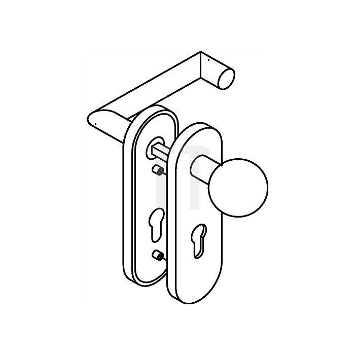 Kurzschild-Drückergrt.165.21PCH/123PCH/230.21PCH E72 PZ re.VK8mm tiefschwarz