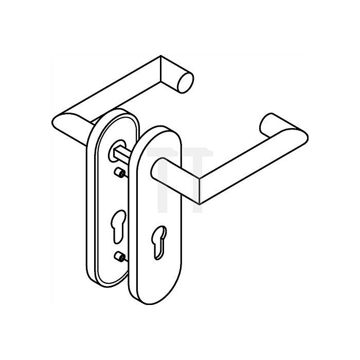 Kurzschild-Drückergrt.165.21PCH/230.21PCH E72 PZ VK8mm TS38,1-48mm anthrazitgrau
