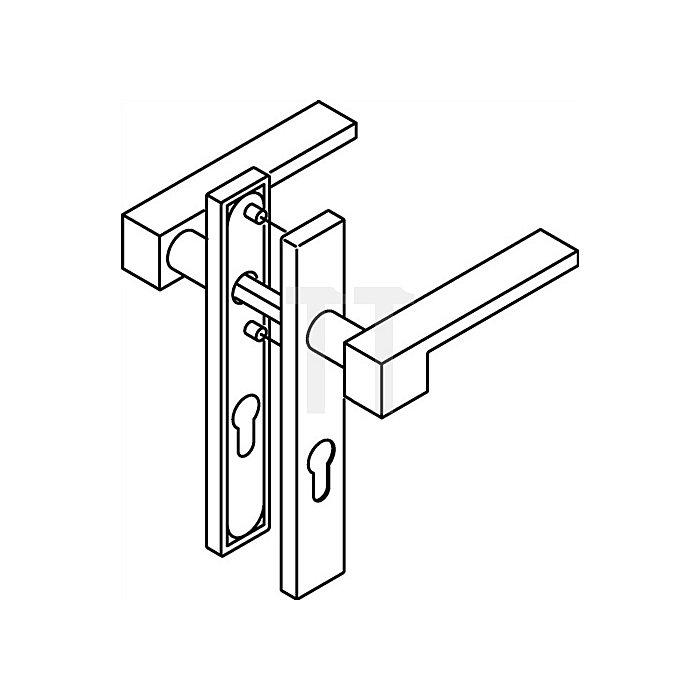 Kurzschild-Drückergrt.181XAH/220.21XAH PZ VK8mm TS38,1-48mm VA matt-geschliffen