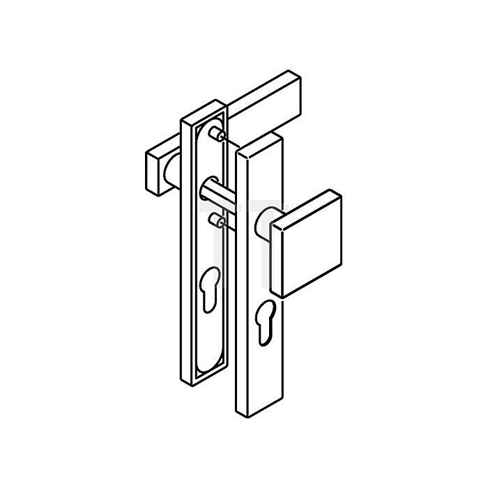 Kurzschild-Drückergrt.185XAH/105XA/220.21XAH E92 PZ VK8mm TS38,1-48mm VA matt WE