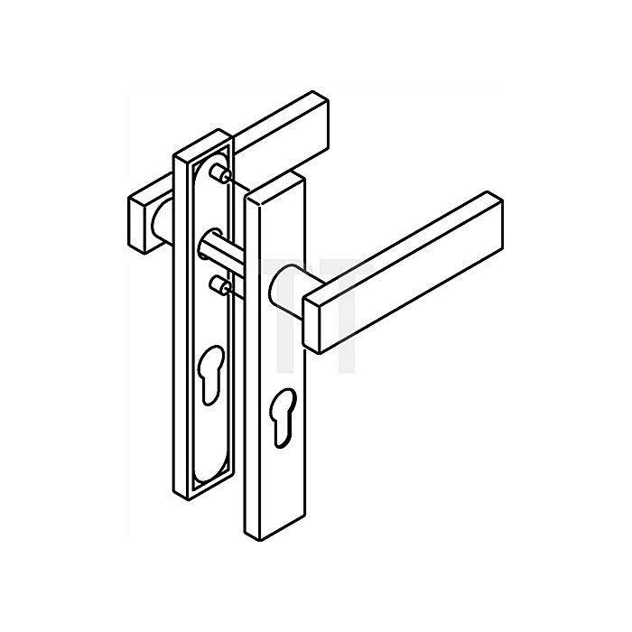 Kurzschild-Drückergrt.185XAH/220.21XAH PZ VK8mm TS38,1-48mm VA matt-geschliffen