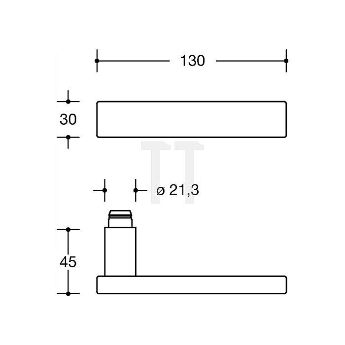Kurzschild-Drückergrt.185XAH/220.21XAHNR FBM Riegel-VK8mm TS38,1-43mm VA matt