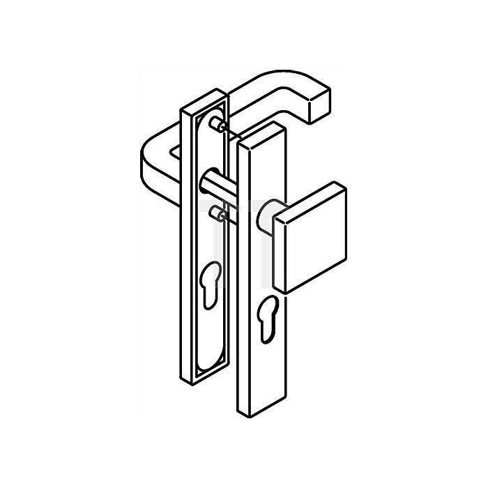 Kurzschild-Drückergrt.211XAH/105XA/220.20SXAH E92 PZ VK8mm TS38,1-48 VA matt WE