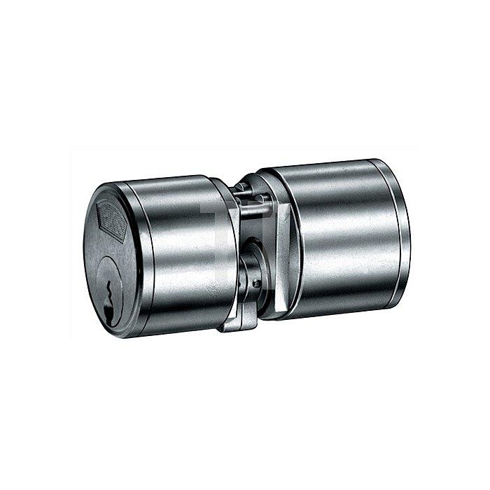 Kurzzylinder nach DIN 18252 3177 L.A 21mm L.B 21mm Gesamt 56mm massiv Ms.matt
