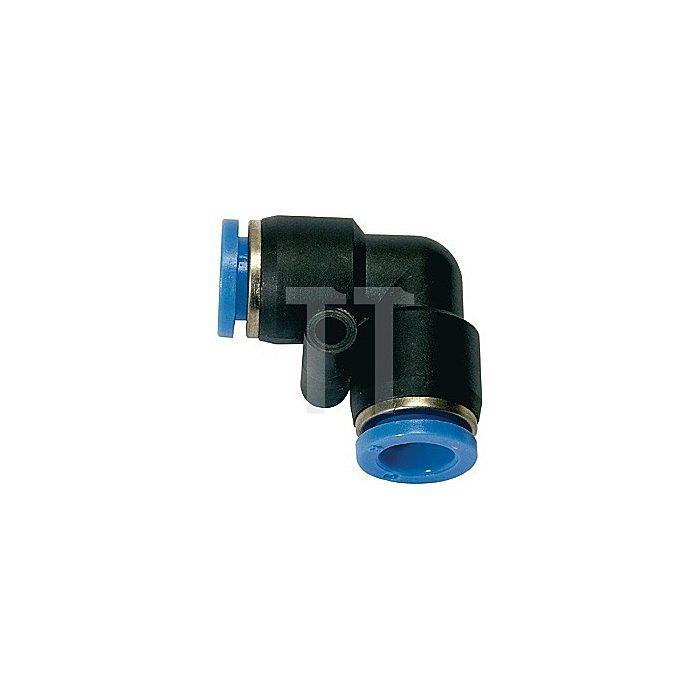 L-Steckverbinder für Schlauch-AD 8 mm Blaue Serie