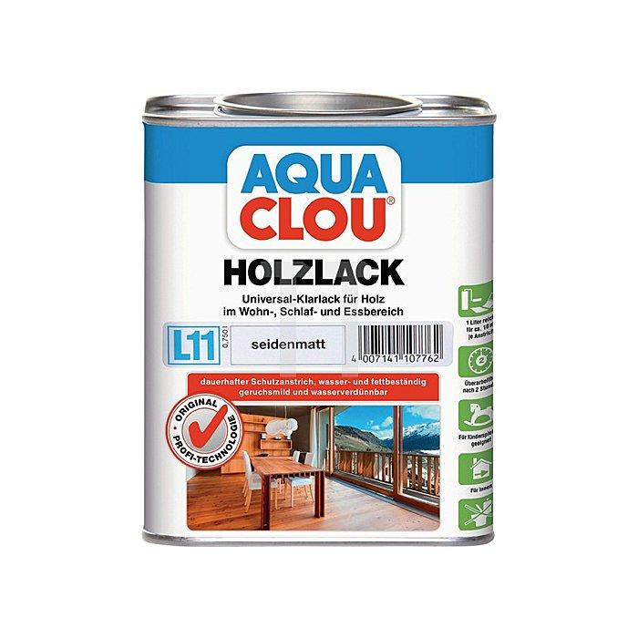 L11 AQUA CLOU Holzlack 750ml farblos seidenglänzend