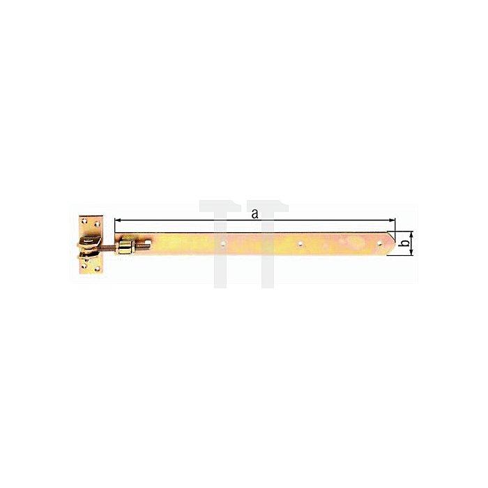 Ladenband 660x40mm Stahl roh galv. gelb verz.