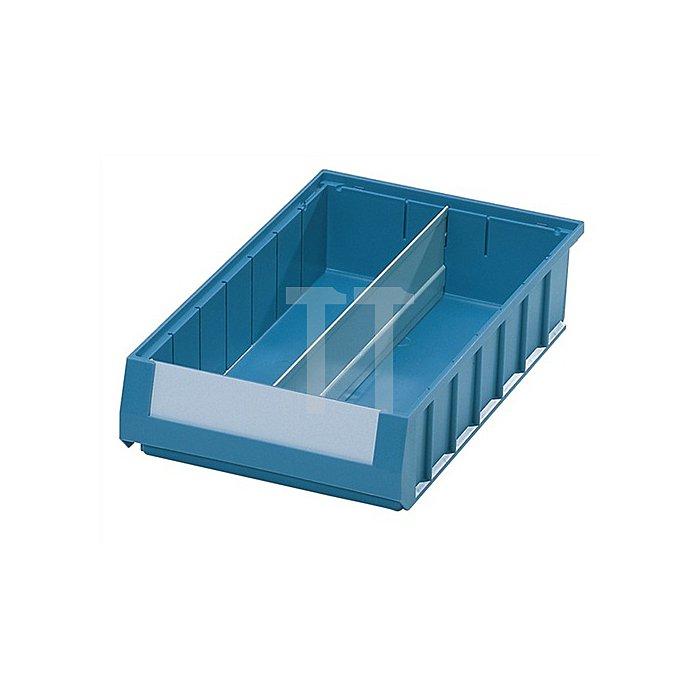 Längsteiler Stahlblech grau 10 St./VE für Regalkastenmaß L600xH90mm