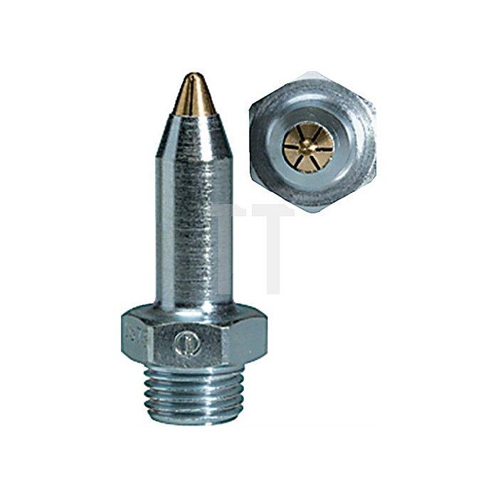 Lärmarme Feinstrahldüse Anschluss 1/2 - 27 UNS  Stahl verzinkt Länge mm 45