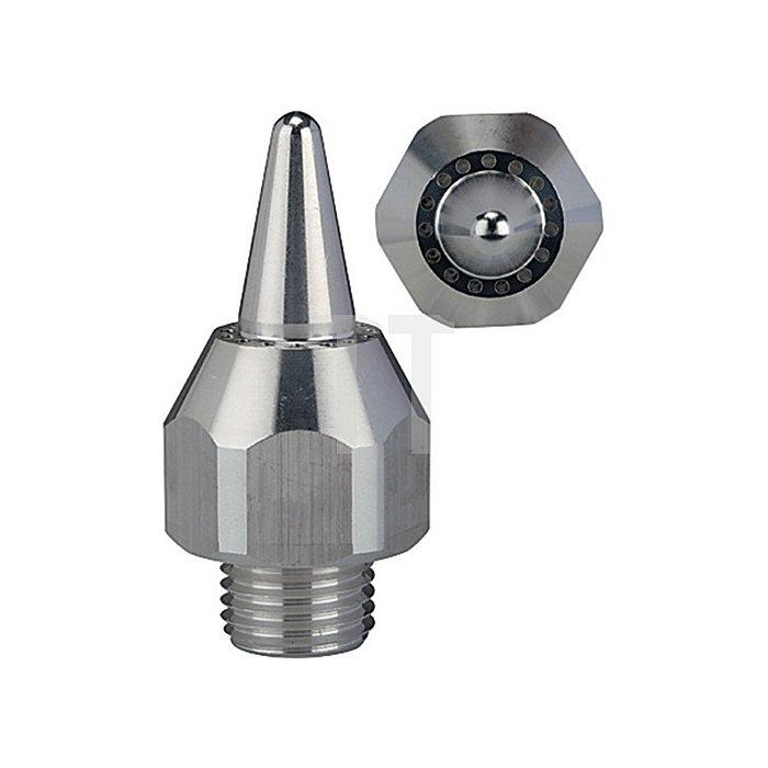 Lärmarme Runddüse Anschluss 1/2 - 27 UNS  Aluminium Länge mm 30
