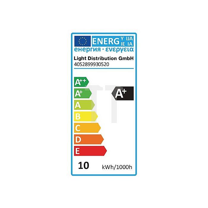 LED-Leuchtmittel 10W E27 Fassung 220-240V 806Lm warm weiss matt nicht dimmbar