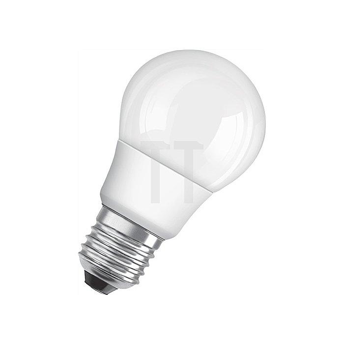 LED-Leuchtmittel 6W E27 Fassung 230-240V 470Lm warm weiss klar nicht dimmbar