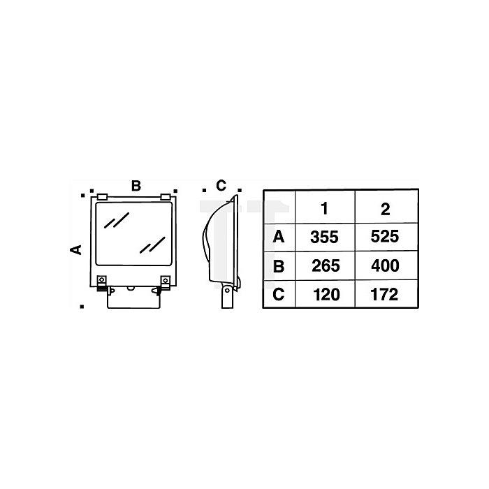 LED Strahler 1x40W LED 5000K IP65 Jolly 1/S 5m H07RN-F 3G1 ,5 m.Schukostecker