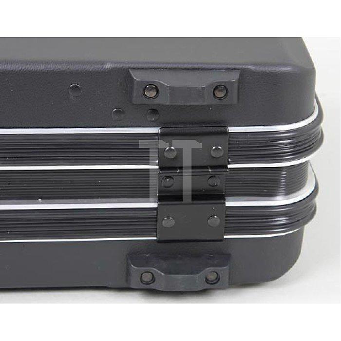 Leerkoffer - Werkzeug- Schalenkoffer ABS-pro Classic schwarz 460 x 160 x 310mm