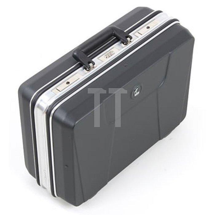 Leerkoffer - Werkzeugkoffer ABS Schalenkoffer Budget schwarz 460 x 140 x 310mm