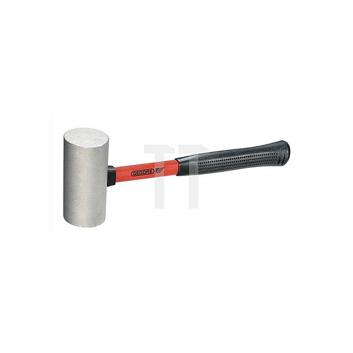 Leichtmetallhammer 500g Fiberglasstiel Zylindrische Form